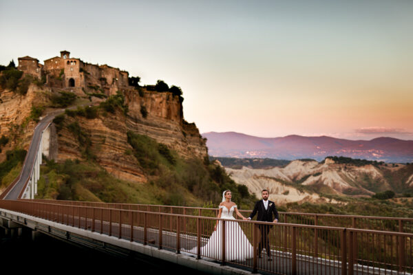 luxury wedding in civita di bagnoregio